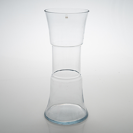 "Tamara aladin, a 1970s glass vase ""tam-tam"", riihimäen lasi, finland."