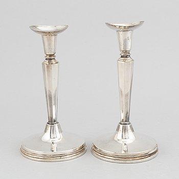 A pair of silver candle holders, KG Markströms Guldsmeds AB, Uppsala, 1964.