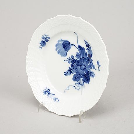Servisdelar, porslin, 29 delar, blå blomst, royal copenhagen.