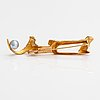 """Björn weckström, a 14k gold brooch """"sled"""" with a cultured pearl. lapponia 1970."""