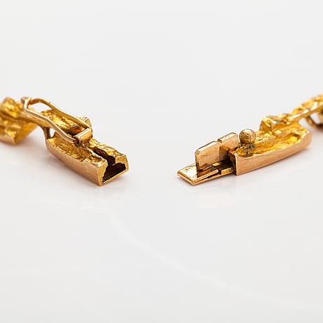 """Björn weckström, """"tundra"""", a 14k gold necklace . lapponia 1973."""