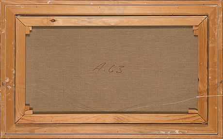 Eero nelimarkka, oil on canvas, signed and dated 1973.