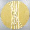 "Matta, ""segments"",  barbara hosak, handtuftad, kateha, diameter 216 cm."