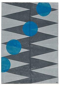 """10. Cecilia Setterdahl, Matto, """"Itinerary Blue"""", 3/10, hand-knotted, ca 243,5 x 171, cm, Carpets CC Dubai."""