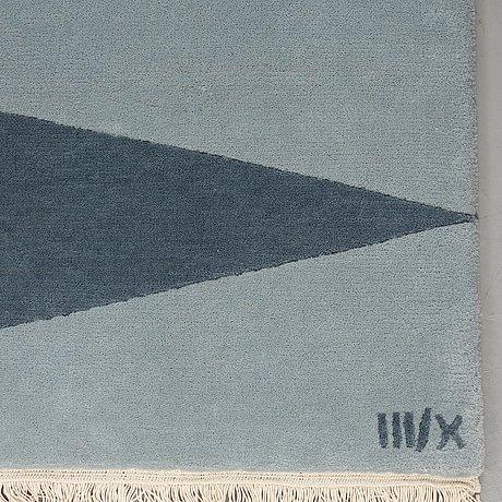 """Cecilia setterdahl, matto, """"itinerary blue"""", 3/10, hand-knotted, ca 243,5 x 171, cm, carpets cc dubai."""