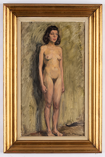 Elsa backlund celsing, oil on paper/panel, signed and dated -45.