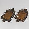 Speglar, ett par, barockstil, 1800-tal.