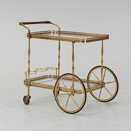 A late 20th century serving trolley.
