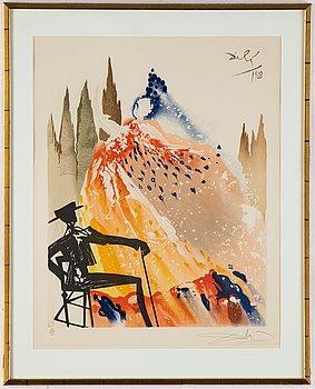 Salvador Dalí, färglitografi, signerad och numrerad 22/125.