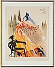 Salvador dalí, lithograph in colour, signed and numbered 22/125.