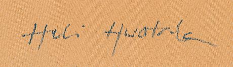 Heli huotala, mixed media, a tergo signed.