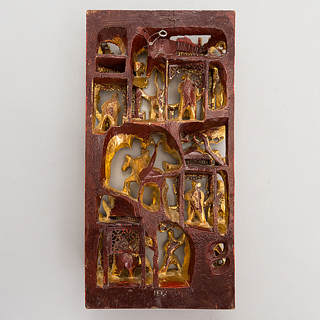 Reliefi, myöhäinen qing-dynastian aika, kiina.