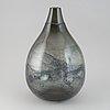 """Eva englund, an """"eldlek"""" glass vase from pukeberg. signed and dated -65."""