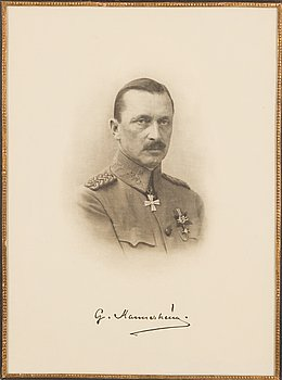 Framed print of Mannerheim, Marshal of Finland.