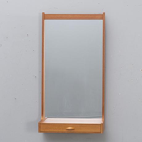 Mirror / hall furniture, teak, 1950s-60s.