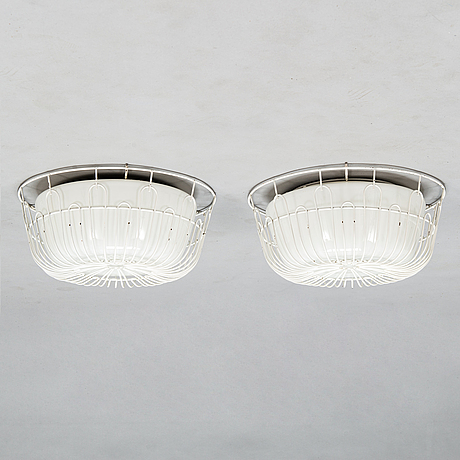 Lisa johansson-pape, a pair of mid-20th-century '1115 /71-115' ceiling lights for stockmann orno.