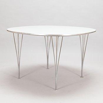 """A """"Superellips"""" dining table by Bruno Mathsson & Piet Hein for Fritz Hansen, Denmark, 1997."""