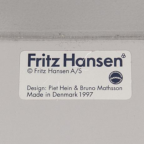 """Piet hein & bruno mathsson, matbord, """"superellips"""", fritz hansen, danmark, 1997."""