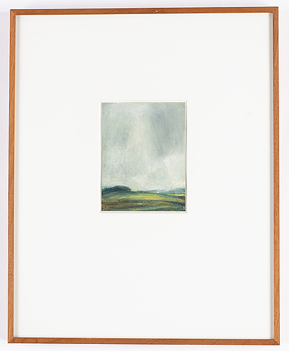 Peter frie, oil on paper, signed.