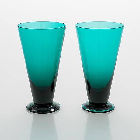 Nanny still, seven drinking glasses for riihimäen lasi oy.