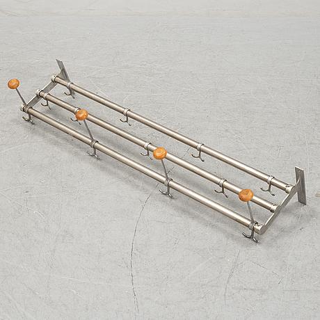 A cromed metal hat rack, 1930's-40's.