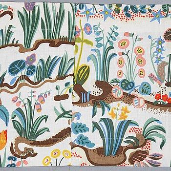 """A short curtain top, linen """"primavera"""", design Josef Frank, Svenskt Tenn, Stockholm."""