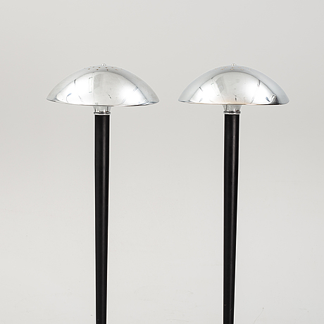A pair of titan lighting floor lamps, late 20th century.