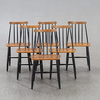 Chairs  6 pcs, Kährs, Nybro, 1970s.