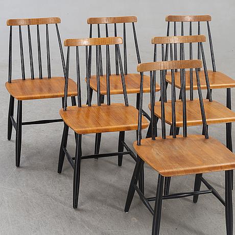 Chairs  6 pcs, kährs, nybro, 1970s.