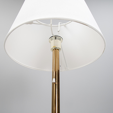 Bergboms, a pair of model 'g-024' brass floor lamps. second half of the 20th century.