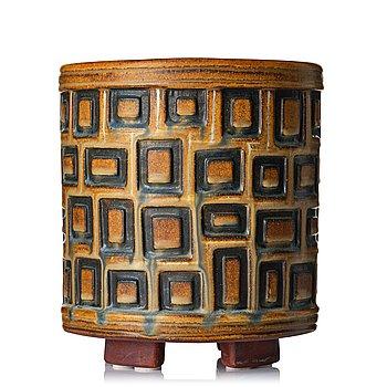 "73. Wilhelm Kåge, a ""Farsta"" stoneware vase, Gustavsberg studio, Sweden 1954."