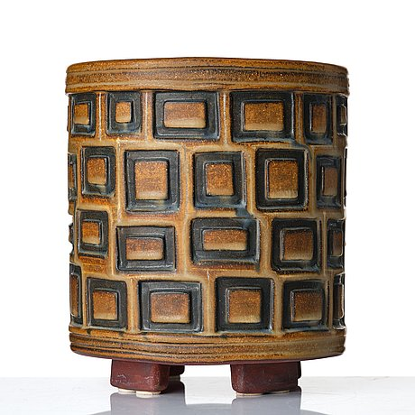 "Wilhelm kåge, a ""farsta"" stoneware vase, gustavsberg studio, sweden 1954."