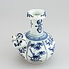 A blue and white south east asian kendi, 20th century.