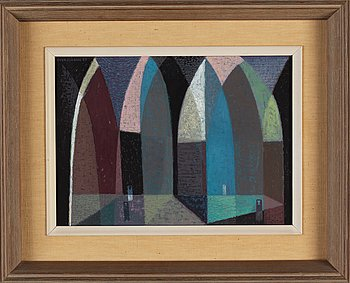 Sven Jonson, oil on canvas, signed and dated -57.