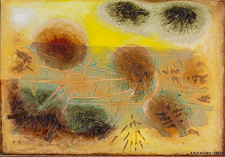 Erik olson, oil on canvas, signed and dated 1962.