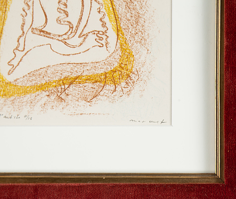 Max ernst, lithograåh in colours, signed ea 6/12.