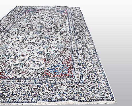 Matto, nain, part silk, 9 laa, ca 686 x 445 cm.