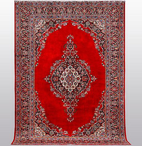 A carpet, keshan, ca 353 x 240 cm.