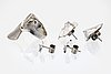 Lapponia 2 pair of earrings and 1 ring, sterling silver.