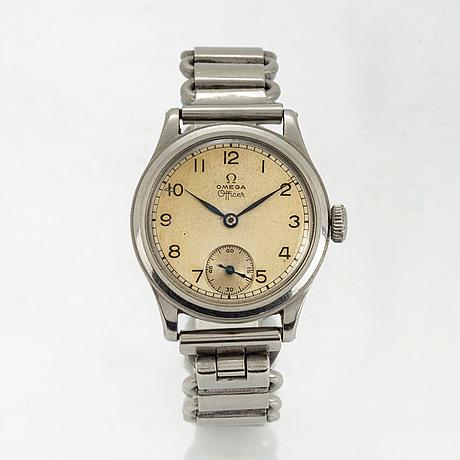 Omega, officer, wristwatch, 31 mm.