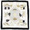 Hermès, 'les voitures a transformation', silk scarf.