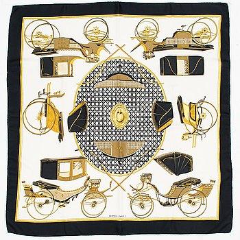 """Hermès, """"Les Voitures a Transformation"""", scarf."""