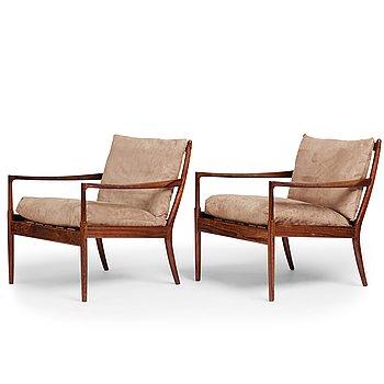 "423. Ib Kofod Larsen, a pair of ""Samsö"" easy chairs, Olof Perssons Fåtöljindustri (OPE), Sweden 1960's."
