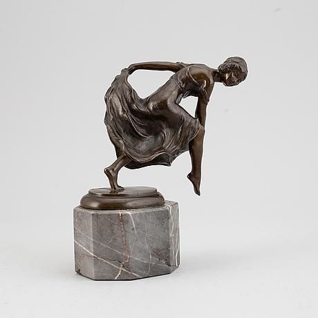 Rudolf kaesbach, skulptur, brons, signerad.
