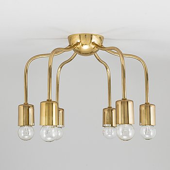 Josef Frank, a brass ceiling light model 2356, Svenskt Tenn.
