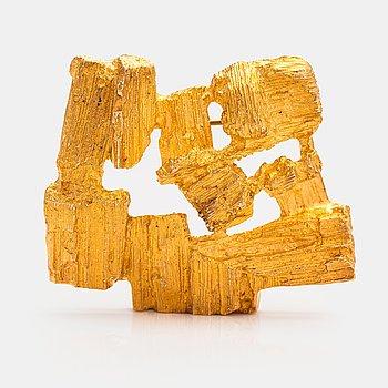 "A 14K gold brooch ""Drift wood"". Lapponia 1973."