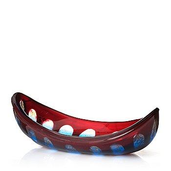 """15. Sven Palmqvist, a """"Ravenna"""" glass bowl, Orrefors, Sweden 1953, nr 438."""
