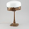 An art nouveau table lamp, early 20th century.