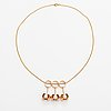 Olli auvinen, a 14k gold and cultured pearls necklace. westerback, helsinki 1967.