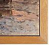Wilhelm von gegerfelt, oil on canvas, stamped signature.